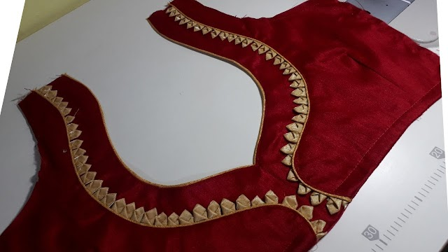 Easy and beautiful blouse back neck design/ब्लाऊज का डिजाइन