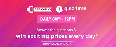 amazon daily quiz and answers