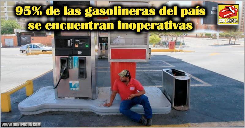 95% de las gasolineras del país se encuentran inoperativas