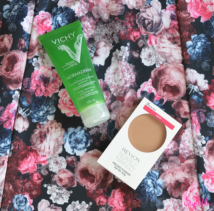 Review of my favorite makeup products and beauty products of which the Vichy Normaderm Deep Cleansing Purifying Gel and Revlon Nearly Naked Pressed Powder are my favorite skin care and makeup products
