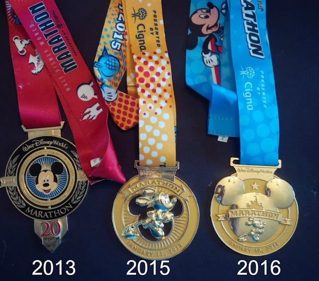Mickey marathon anniversary race medal