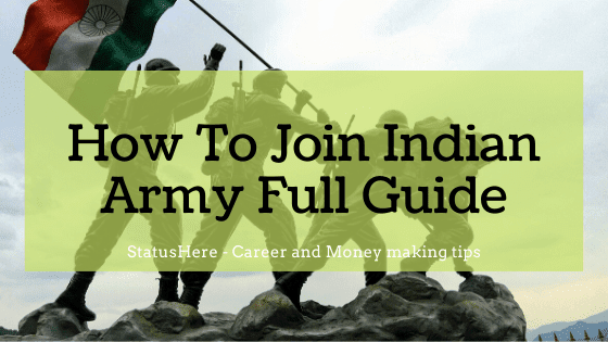 How to join Indian Army full detail guide for everyone 2020