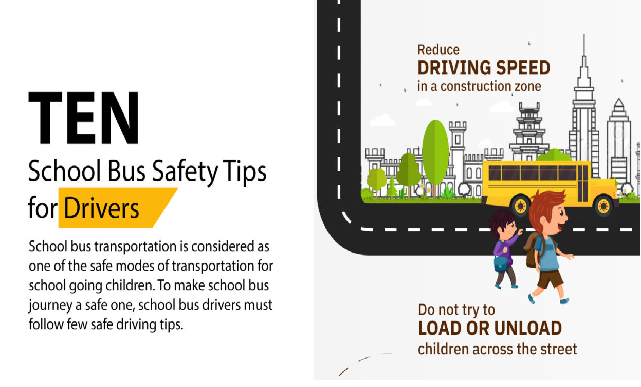 10 School Bus Safety Tips for Drivers #infographic