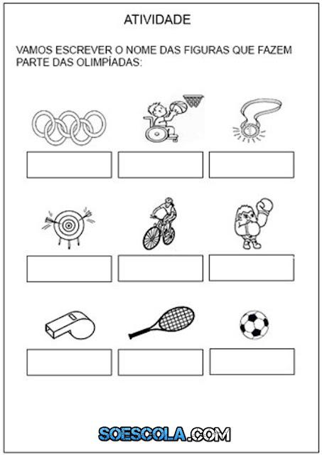 Confira Atividades sobre Olimpíadas para imprimir e colorir