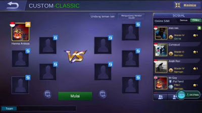 Manfaat Penting Bermain Di Custom Mode Mobile Legends.