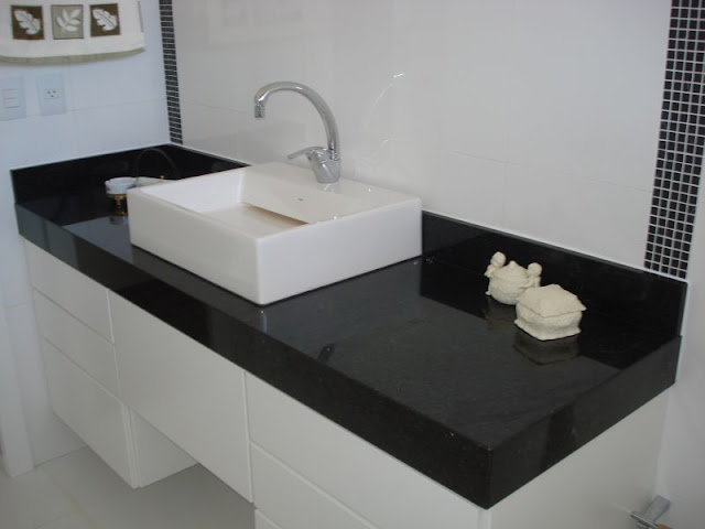 Construindo Minha Casa Clean Diferença Mármore x Granito x Marmoglass x Nano -> Como Colocar Pia De Banheiro Na Parede