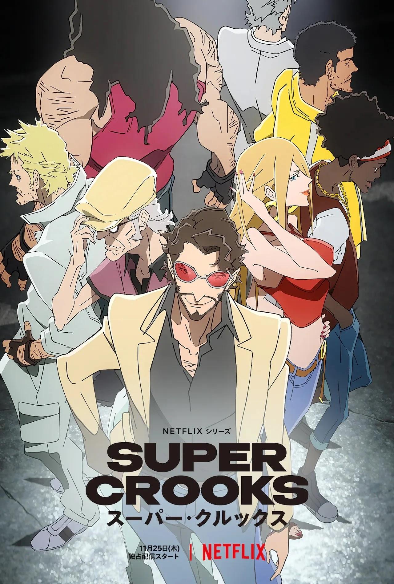 Anime Super Crooks revela seu primeiro vídeo promocional
