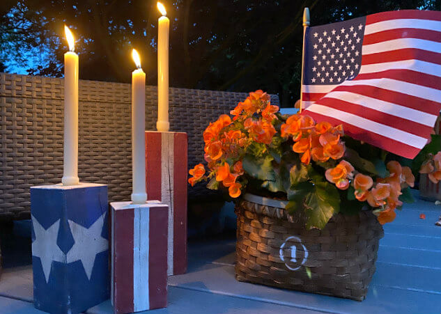 American Flag Candle Holders