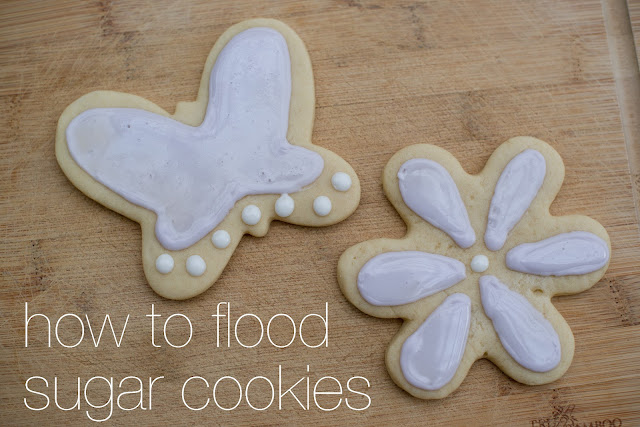 How to flood sugar cookies with royal icing