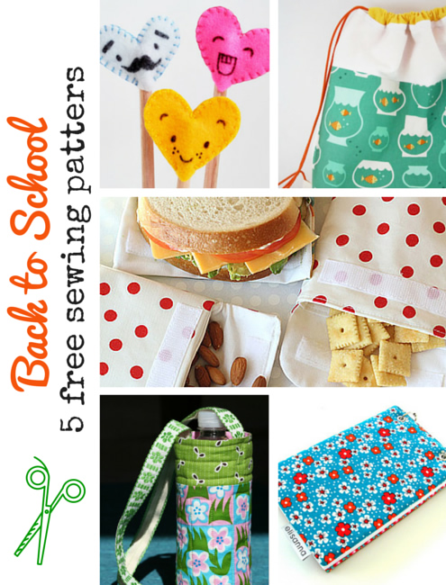 Back to school, 5 free sewing patterns | Happy in Red