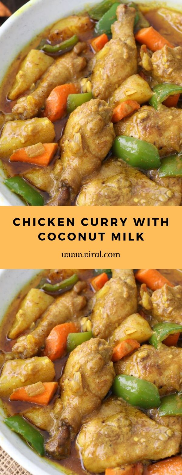 CHICKEN CURRY WITH COCONUT MILK #chicken #maincourse #curry