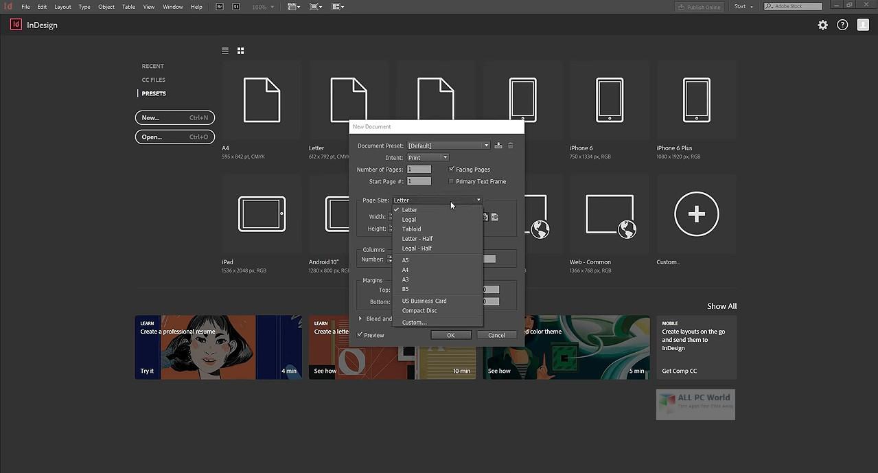 تحميل برنامج Adobe InDesign 2020 v15.0.1 أخر إصدار كامل مفعل مسبقا