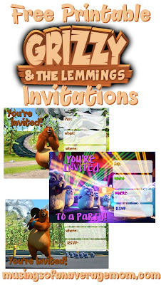free Grizzly and Lemming printables