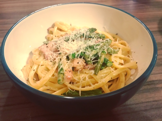 Recipe, Pasta, Linguini, Pancetta, Asparagus, Carbs, Food Bloggers