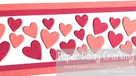 Stitched Be Mine dies Stampin' Up! Valentine's card