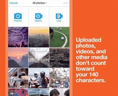 Desde ya, los elementos multimedia dejan de contar a los 140 caracteres en Twitter.