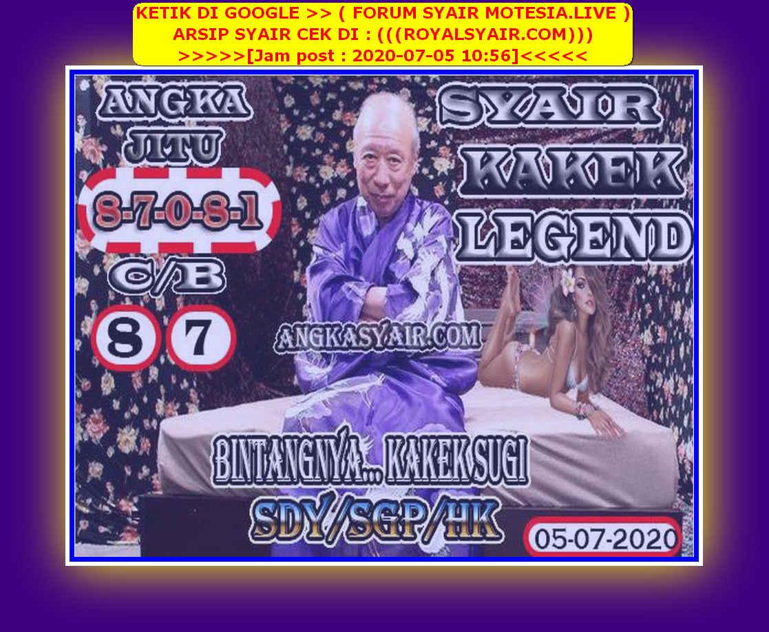 Kode syair Singapore Minggu 5 Juli 2020 149