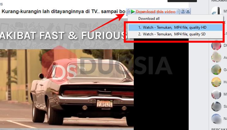 Download Video dengan Aplikasi Tambahan dengan Ekstensi IDM