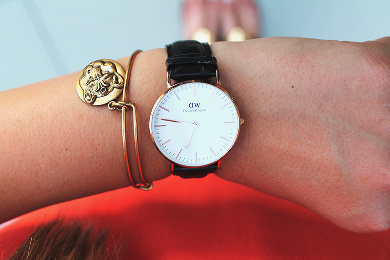 daniel wellington, DW watch, leather band watch
