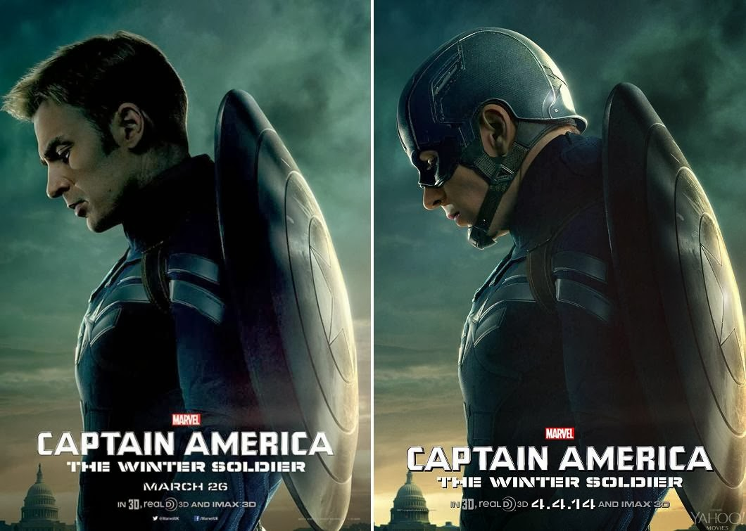 Captain America: The Winter Soldier Teaser Character Movie Poster Set - Chris Evans as Steve Rogers and as Captain America