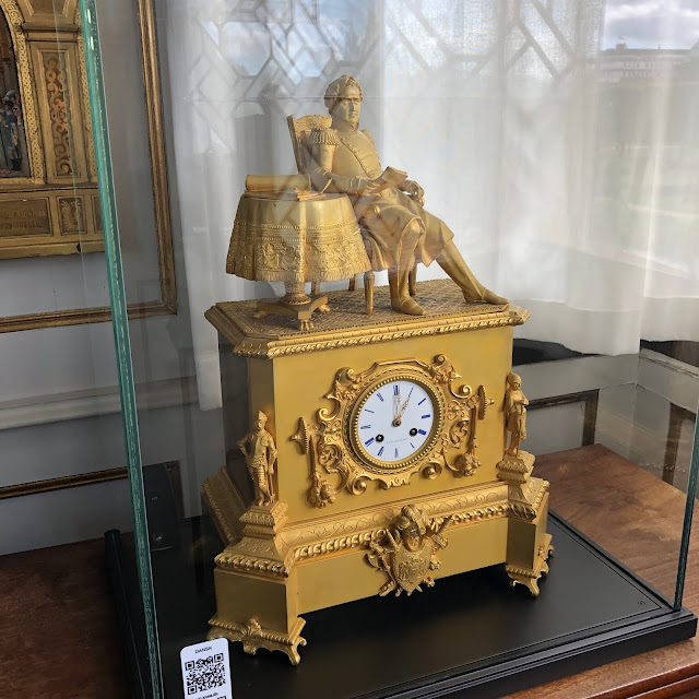 Mantle clock depicting Christian VIII the last absolute monarch of Denmark.
