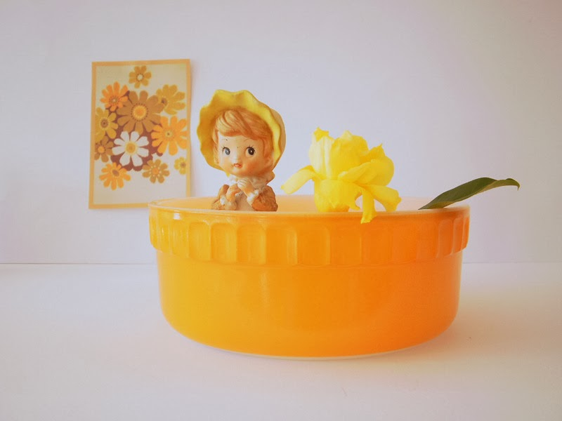 Vintage Agee Pyrex  dish, Photo styling by She and Me