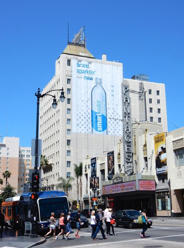 Giant Smartwater sparkling billboard