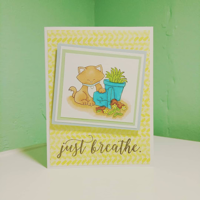 Just Breathe by Billie features Naughty Newton by Newton's Nook Designs; #newtonsnook