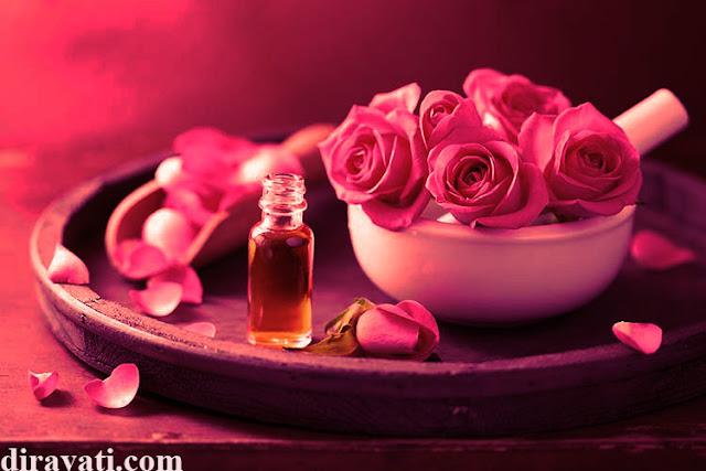 المهبل زيت الورد ماء الورد المنطقة الحساسة تفتيح البشرة المناطق الحساسة مهبل تبيض الوجه فوائد ماء الورد
