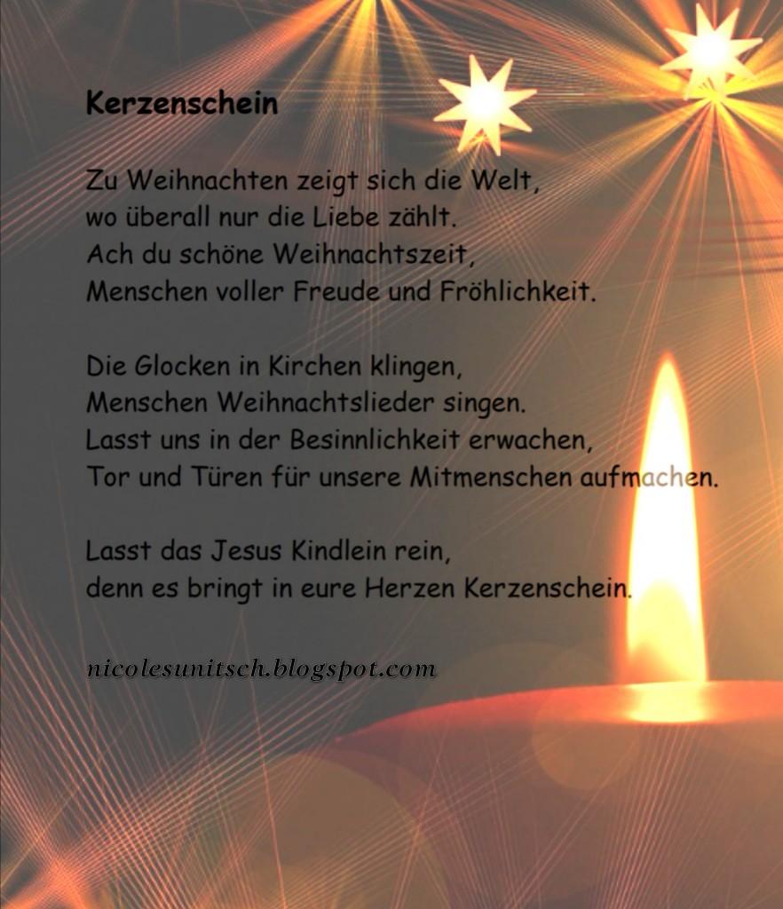 Gedichte Von Nicole Sunitsch Autorin Kerzenschein Gedicht
