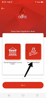 How To Sign Up on ALFA APP