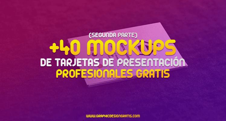Tarjetas de presentación: +40 mockups profesionales (Segunda Parte)