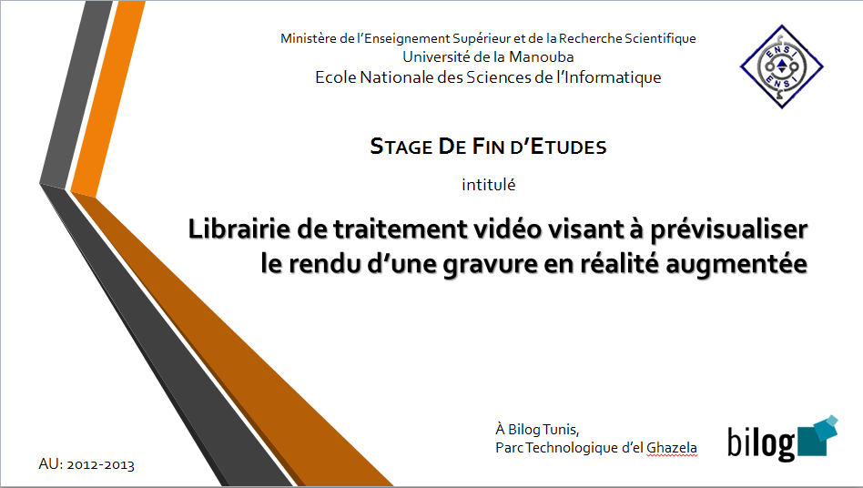 PPT Exemple de Présentation PFE Librairie de traitement ...