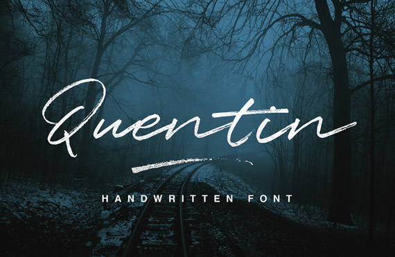 quentin, free script handwriting style font