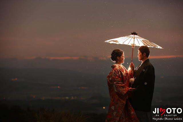 雨の奈良で前撮り撮影