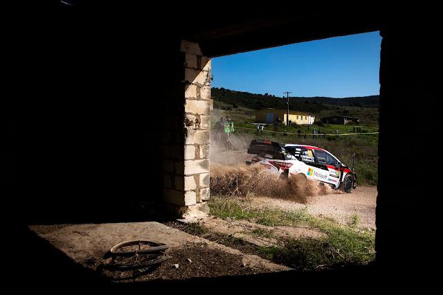 Kalle Rovanpera in a Toyota Yaris WRC Car