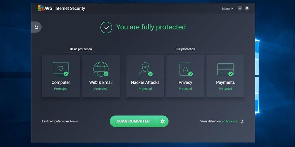Đăng kí bản quyền miễn phí 1 năm AVG Internet Security 2018
