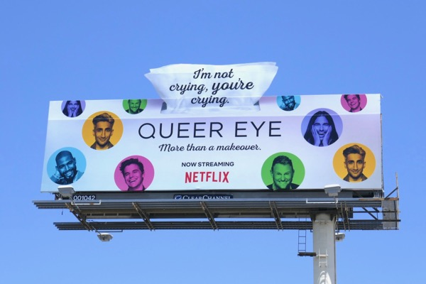 Queer Eye season 2 box of tissues extension billboard