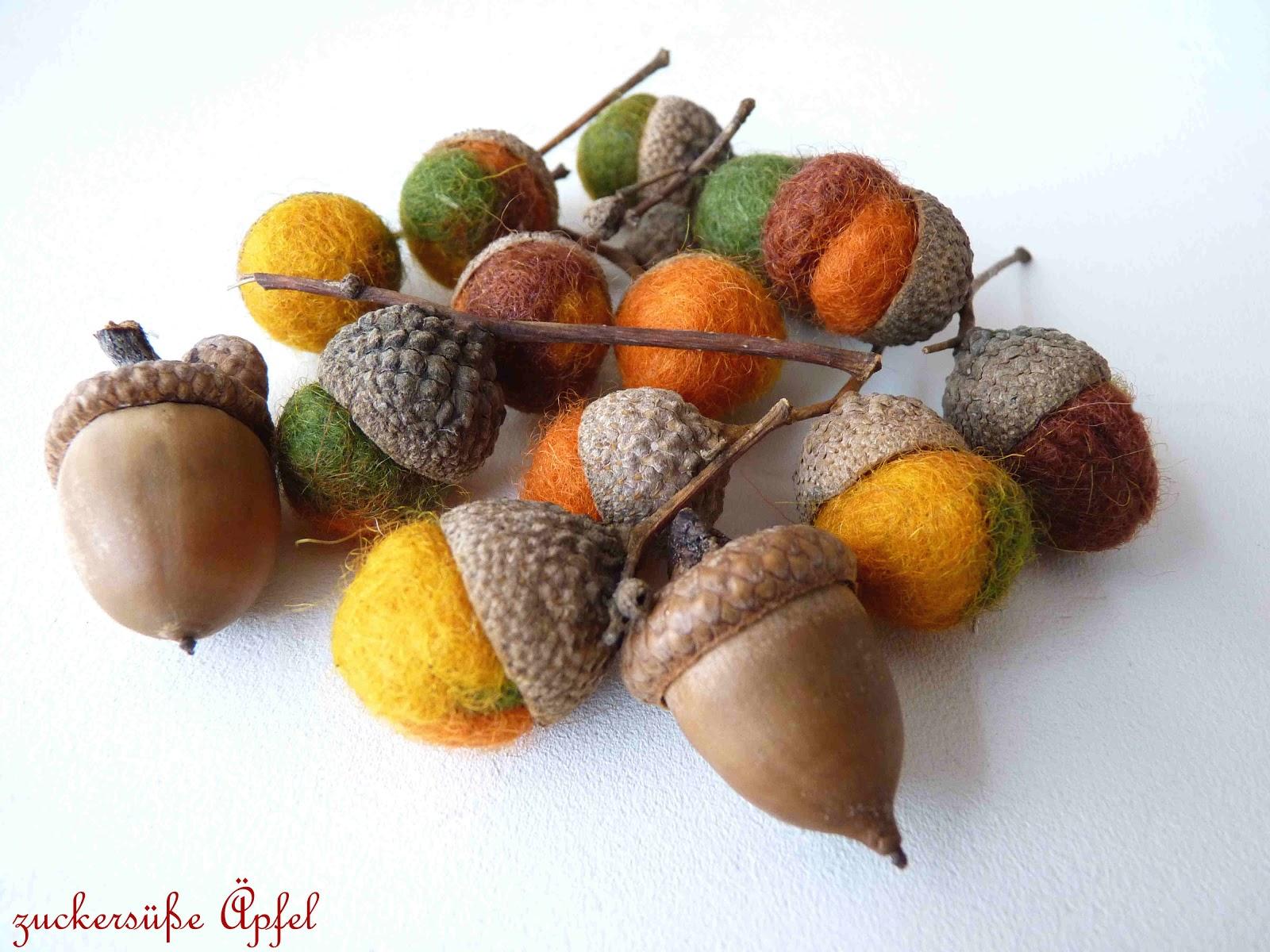 Eine Anleitung Zum Eicheln Selber Filzen Zuckersüße äpfel