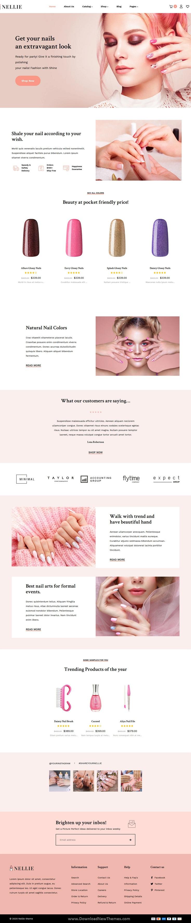 Nail, Hair & Beauty Responsive Shopify Theme