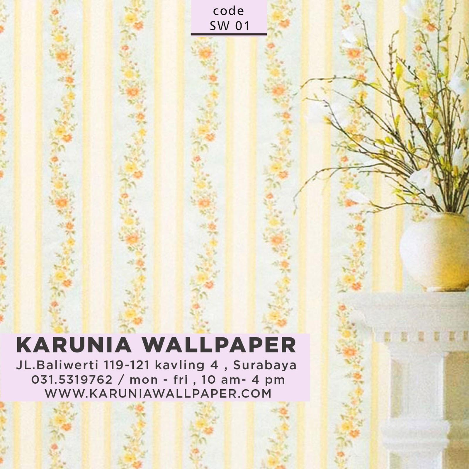 wallpaper bunga dinding rumah