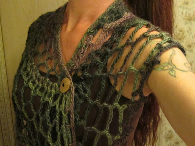 crochet, shawl, shawl toggle