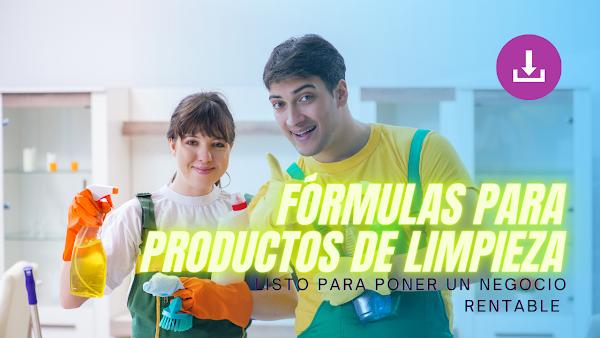 🙌 Manual de Fórmulas Químicas Productos de Limpieza y Cosméticos