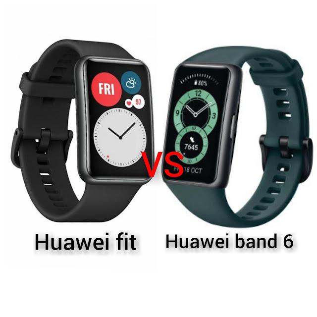 الفرق بين ساعة هواوي فيت و هواوي باند 6