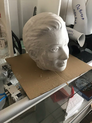 Sculpture molding in process