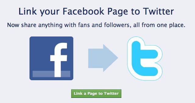 طريقة ربط الفيسبوك بتويتر