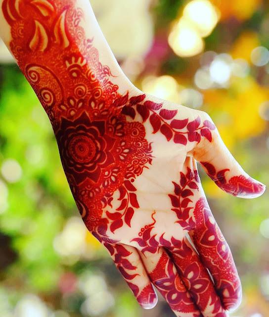 simple arabic mehndi designs for full hands 2018