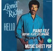 Hello - Lionel Richie Music Sheet PDF File