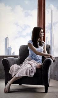 realistas-pinturas-con-mujeres-paisajes-y-flores mujeres-paisajes-cuadros-realismo