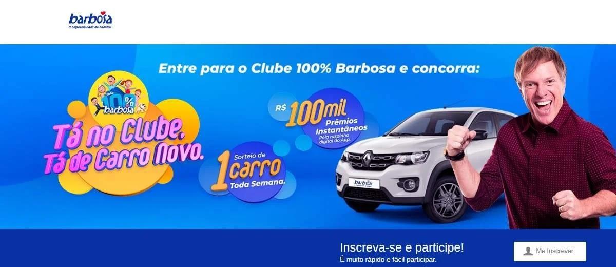Promoção Barbosa Supermercados Tá no Clube Tá de Carro Novo
